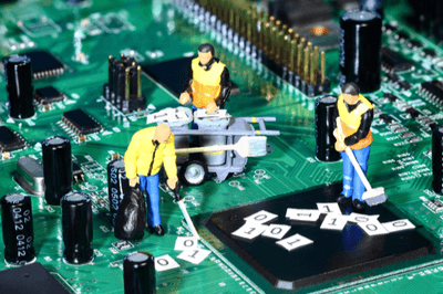 Clean vs no clean solder process within electronics manufacturing